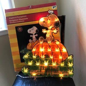 Vintage Peanuts NIB Lighted great pumpkin sculptur